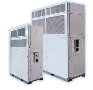 10 and 20 ton vertical portable air conditioning & heating unit