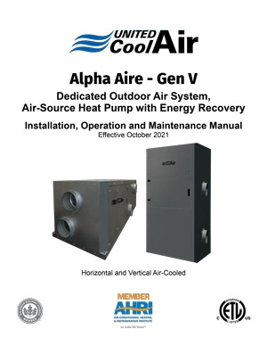 Alpha Aire Installation Manual cover