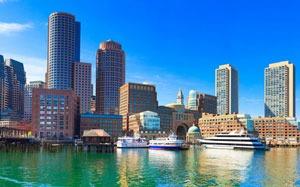 Boston Harbor summer day