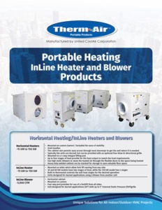 Portable inline heater & blower flyer cover