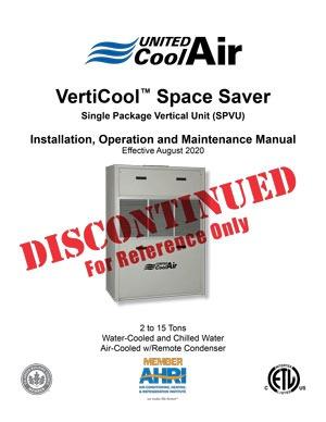 VertiCool Space Saver Installation Manual